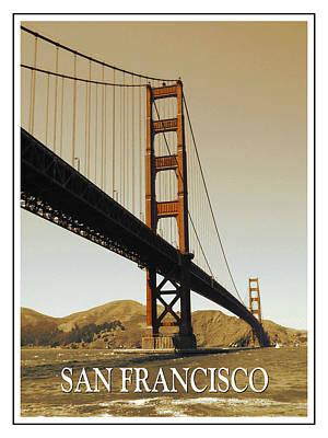 Photograph - Golden Gate Bridge San Francisco Poster by Peter Potter