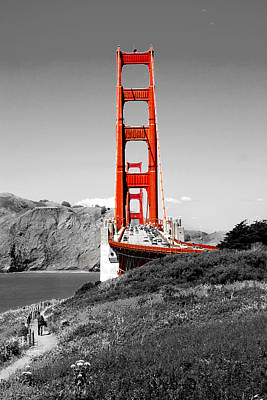Red Photograph - Golden Gate by Greg Fortier