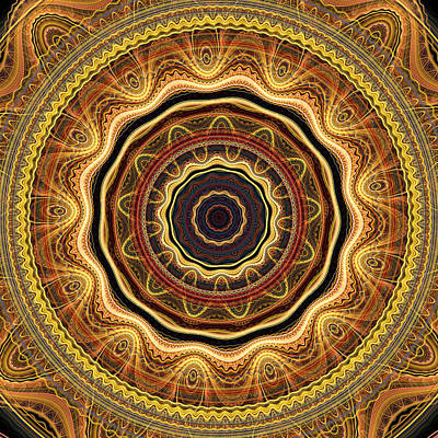 Digital Art - Golden Mandala by Martin Capek