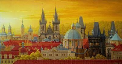 Golden Prague Art Print