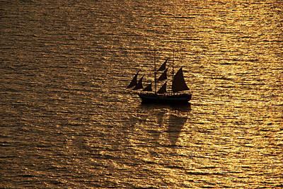 Photograph - Golden Sea by Manolis Tsantakis