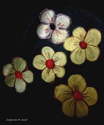 Etc. Mixed Media - Shining Flowers by Zulqarnain Jamal