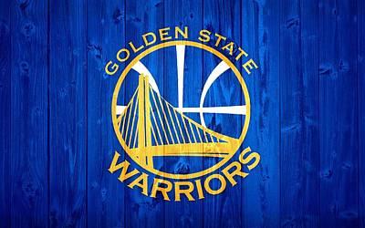 Athletes Digital Art - Golden State Warriors Door by Dan Sproul