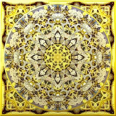 Digital Art - Gold Steampunk No. 2 by Charmaine Zoe