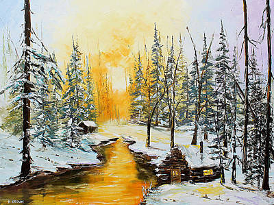 Painting - Golden Winter by Kevin Brown