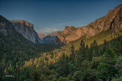 Sunset Scenes Photograph - Golden Yosemite by Bill Roberts