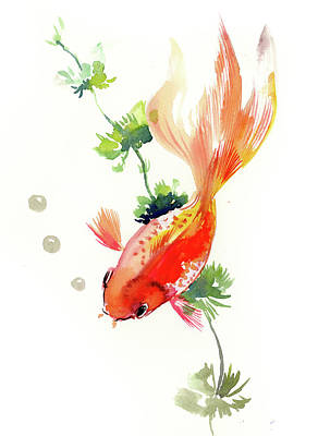 Painting - Goldfish by Suren Nersisyan