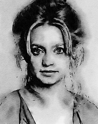 Goldie Painting - Goldie Hawn Hollywood Icon By John Springfield by John Springfield
