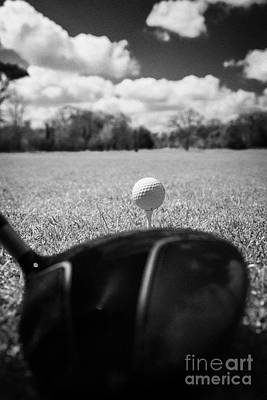 Anticipation Photograph - Golf Ball On The Tee With Driver by Joe Fox