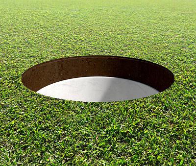 Golf Hole And Green Art Print