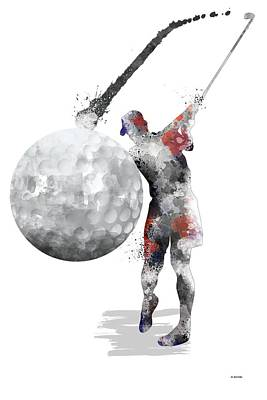 Digital Art - Golf Player by Marlene Watson