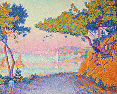 Boat Painting - Golfe Juan by Paul Signac