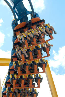 Sixflag Photograph - Goliath Rollercoaster by Roy Williams