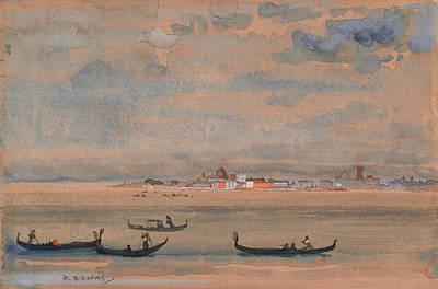 Painting - Gondolas by Arthur Bowen Davies