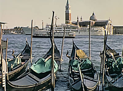 Photograph - Gondolas Boats Venice by Benny Marty
