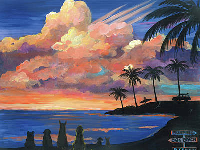 Painting - Gone To Beach by Brenda Griffin