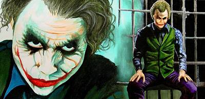 Heath Ledger Painting - Good Evening Commissioner by Al  Molina