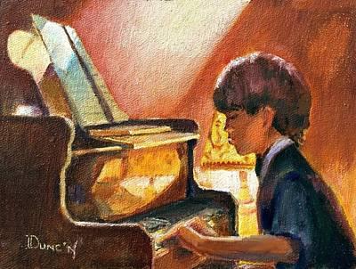 Piano Painting - Good Eyes by Bob Duncan