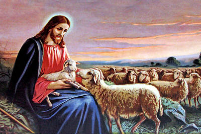 Painting - Good Shepherd by Munir Alawi
