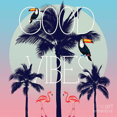 Summer Digital Art - Good Vibes 2 by Mark Ashkenazi