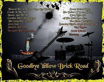 Digital Art - Goodbye Yellow Brick Road by Michael Damiani