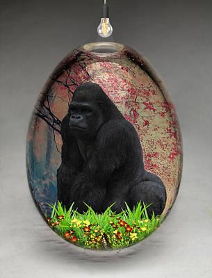 Mixed Media - Gorilla Ape Art by Marvin Blaine
