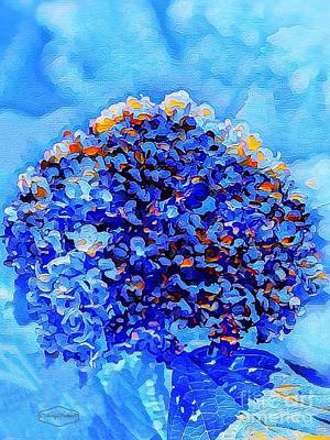 Mixed Media - Got The Blues by MaryLee Parker