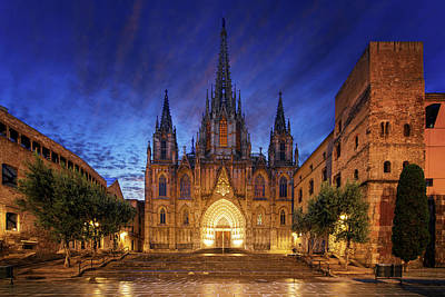 Photograph - Gothic Barcelona Cathedra by Anek Suwannaphoom