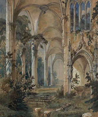Gothic Church Ruin Art Print by Carl Blechen