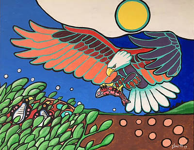 Eaglet Painting - Grace And Strength by James Smith