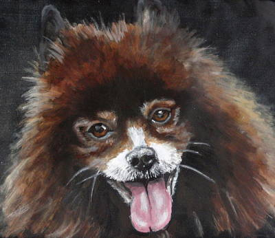 Dog Close-up Painting - Grace  by Carol Russell