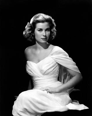 Gathered Dress Photograph - Grace Kelly, 1954 by Everett