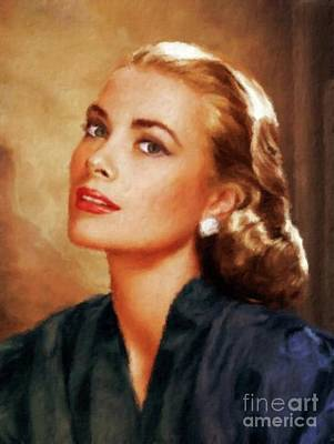 Grace Kelly Painting - Grace Kelly, Actress And Princess by Mary Bassett