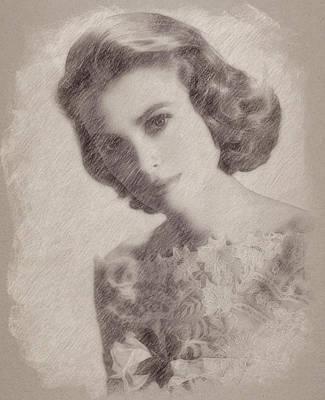 Celebrities Paintings - Grace Kelly by Esoterica Art Agency