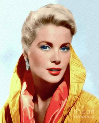 Actors Royalty-Free and Rights-Managed Images - Grace Kelly, Movie Star by John Springfield