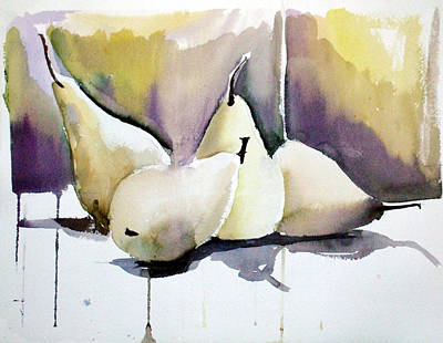 Graceful Pears Art Print by Mindy Newman