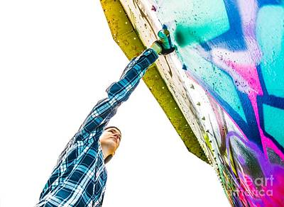 Hip Hop Photograph - Graffiti Artist by Diane Diederich