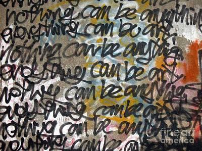 Photograph - Graffiti Writing by Yali Shi