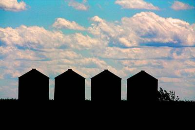 Photograph - Grain Bins by David Matthews