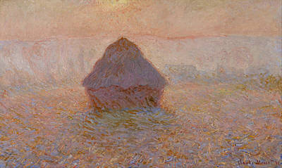 Photograph - Grainstack, Sun In The Mist by Claude Monet