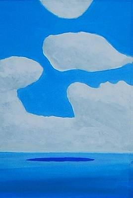 Art Print featuring the painting Grand Bahama Cloudscape by Dick Sauer