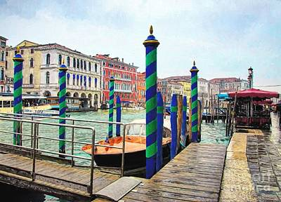Photograph - Grand Canal In Venice # 2 by Mel Steinhauer