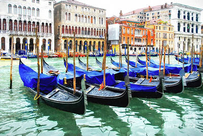 Art Print featuring the photograph Grand Canal In Venice by Mel Steinhauer