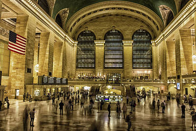 Schedule Photograph - Grand Central Station by Martin Newman