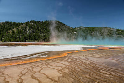 Photograph - Grand Prismatic Spring In Yellowstone National Park by John McGraw