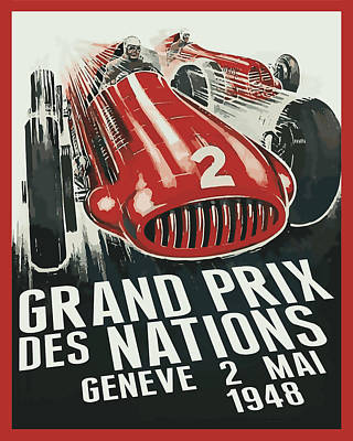 Digital Art - Grand Prix Racing by Gary Grayson