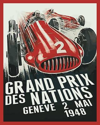 Digital Art - Grand Prix Racing by Gary Grayson