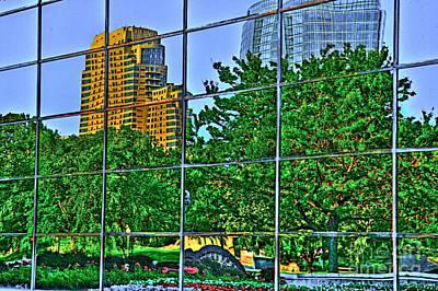 Land Scape Digital Art - Grand Rapids Mi On Glass-17 by Robert Pearson