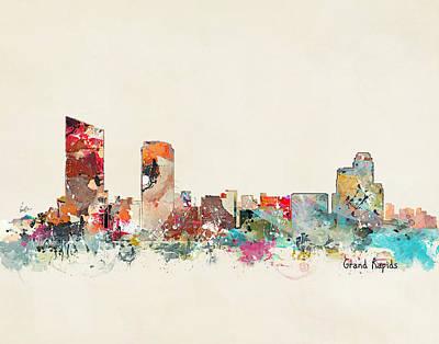 Painting - Grand Rapids Michigan by Bri B