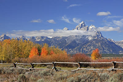 Photograph - Grand Teton Autumn by Jack Bell